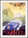 Greece Automobile Framed Giclee Print