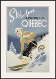 Ski Fun la Province de Quebec, 1948 Posters