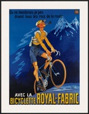 Bicyclette Royal Fabric Framed Giclee Print by  Mich (Michel Liebeaux)