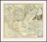 Composite: North America, c.1776 Print by Thomas Jefferys