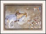 Car and the Fox Hunt Prints by Umberto Boccioni