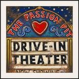 Drive In Theater Poster by Janet Kruskamp