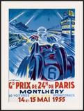 Grand Prix de Montlhery Framed Giclee Print by Geo Ham