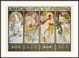 Les Saisons Posters by Alphonse Mucha