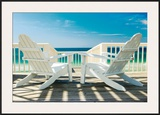 Deck Chairs Print by Doug Cavanah