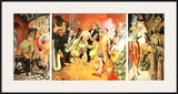 Grossstadt (Triptychon), c.1927-28 Posters by Otto Dix