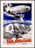 Swiss Airways Framed Giclee Print