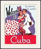 Welcome to Cuba Framed Giclee Print