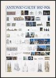 Collage, Barcelona Prints by Antoni Gaudí