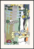 Water Lilies with Japanese Bridge Poster by Roy Lichtenstein