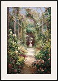 Garden Entrance Print by  Haibin