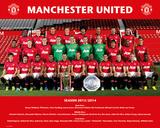 Man Utd - Team 13/14 Posters