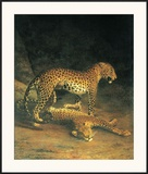 Two Leopards Playing Prints by Jacques-Laurent Agasse