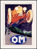OM Roadster Framed Giclee Print by Marcello Nizzoli