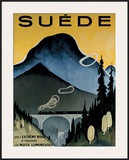 Suede Framed Giclee Print by  Hallman