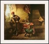 The Student Print by  Rembrandt van Rijn