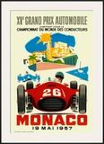 Monaco Grand Prix, 1957 Print