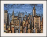 Twilight Skyline Framed Giclee Print by Timothy Craig