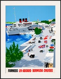 Furness Bermuda Cruises Framed Giclee Print