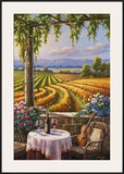 Vineyard and Violin Poster by Sung Kim