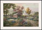 Razzberry Creek Crossing Prints by Carl Valente