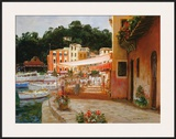 Morning Stroll in Portofino Prints by George W. Bates