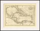 Chart of the West Indies, c.1811 Prints by Mathew Carey