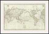 Mappemonde, c.1797 Print by Jean-francois De Galaup La Perouse