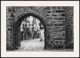 Bicycle of Riquewihr Framed Giclee Print by Monte Nagler
