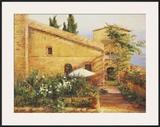 Tuscan Courtyard Art by Kate Palmer