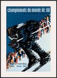 Chamonix World Championships Framed Giclee Print by  Constantin