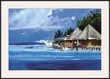 Reef's Breakin' Framed Giclee Print by Norman Daniels