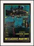 Messageries Maritime, Visitez l'Extreme-Orient Poster by Bernard Blacheire