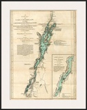 Survey of Lake Champlain, including Lake George, Crown Point and St. John, c.1776 Prints by Robert Sayer