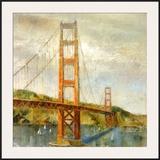 Golden Gate Print by Michael Longo
