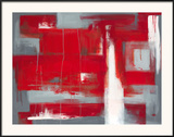 Red Abstract Prints by Leigh Banks