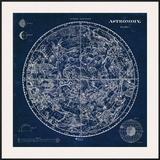 Celestial Blueprint Print by Sue Schlabach
