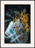 Burning Blackjack Print by Michael Godard