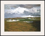 Passing Weather, 17th at Sand Hill Framed Giclee Print by Michael G. Miller