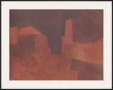 Abstract Composition, Maroon Prints by Serge Poliakoff