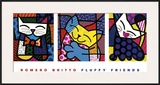 Fluffy Friends Posters by Romero Britto