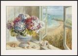 Coastal Hydrangea Posters by Danhui Nai