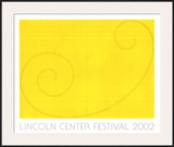 Yellow Curled Figure Prints by Robert Mangold