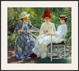Three Sisters, a Study in June Sunlight Posters by Edmund Charles Tarbell