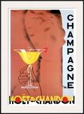 Moet et Chandon Serigraphie Art by  Chem