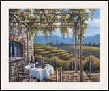 Vineyard Terrace Poster by Sung Kim