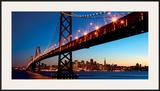 San Francisco Skyline and Bay Bridge at Sunset-California Print by  Dibrova