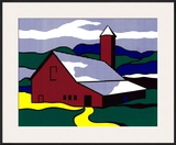 Red Barn II, 1969 Print by Roy Lichtenstein