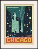 Chicago: The Magnificent Mile (Night Lights) Print by  Anderson Design Group