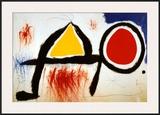 Personagge Devan Le Soleil Print by Joan Miró